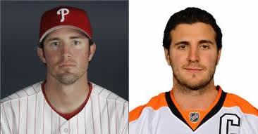 Chase Utley and Mike Richards